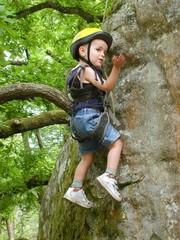 apprentissage  de l'escalade enfant