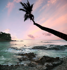 Seychelles escape to Paradise, long Exposure at Sunset