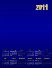 blue calendar for design wich place for image