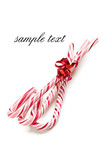 xmas concept with stripy candy cane