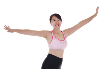 Woman performing some aerobic exercise