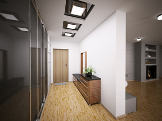 Flur Interior 3d