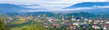 Summer country panorama.