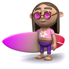 3d Hippy surfer