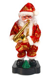 toy santa claus play the saxophone