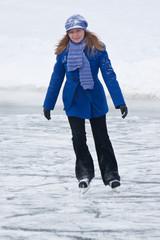 Girl on ice skates.
