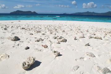 Isola di sabbia bianca a Mayotte (Comorre)