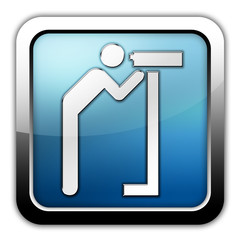 """Glossy Square Icon """"Viewing Area"""""""