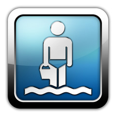 """Glossy Square Icon """"Wading"""""""