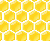 seamless repetitive vector honey comb pattern poster