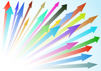 Colored abstract arrow background