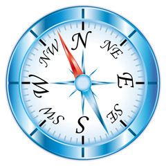 Compass icon isolated on white background.