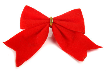 christmas bow decoration for a ney-year tree