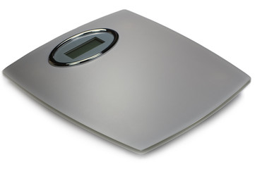Grey Digital Bathroom Scale Isolated