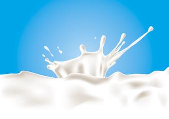 A splash of milk. Vector illustration.