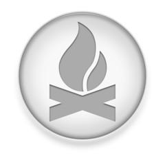 """White Button / Icon """"Campfire"""""""