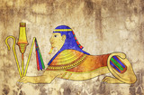 Sphinx - mythical creature of ancient Egypt poster