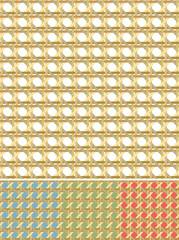 Woven cane - seamless pattern