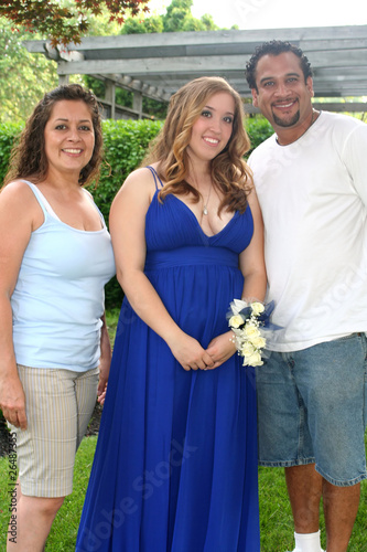 Prom Girl With Parents Vertical