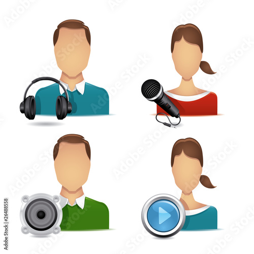 people audio icons