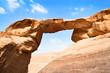 Leinwandbild Motiv Burdah rock bridge in desert - Wadi Rum, Jordan