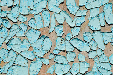 blue cracked surface