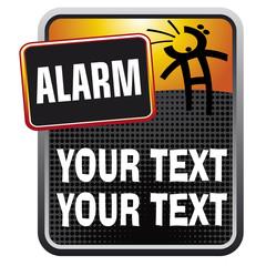 alarm orange stylized ad