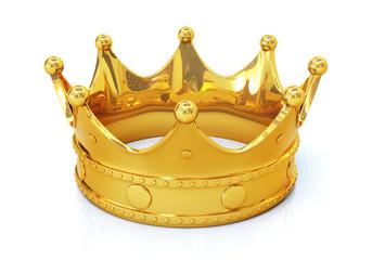 Golden crown - top view