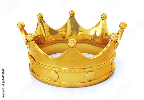 Golden crown - top view