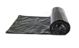 Roll of disposable trash bags isolated over white