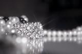 Fototapete Perlen - Diamant - Schmuck