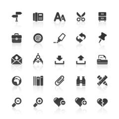 Black Web Icons -  Office