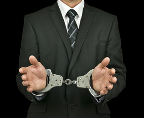 Businessman handcuffs