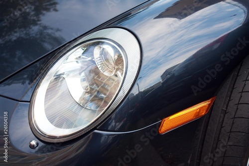 Shot of modern car detail - light