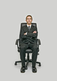 Businessman waiting chair