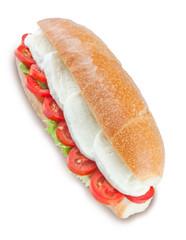 Panino Caprese: Mozzarella di Bufala, Pomodoro e Insalata