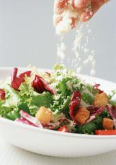 salat mit parmesan