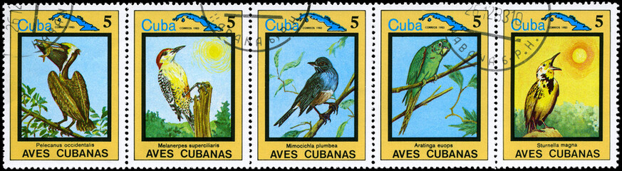 CUBA - CIRCA 1983 Cuban Birds