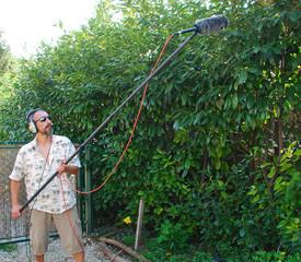 Sound Engineer Recording Bird Sound
