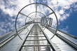 silo steel safety staircase