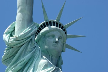 Close-up of the statue of liberty, USA