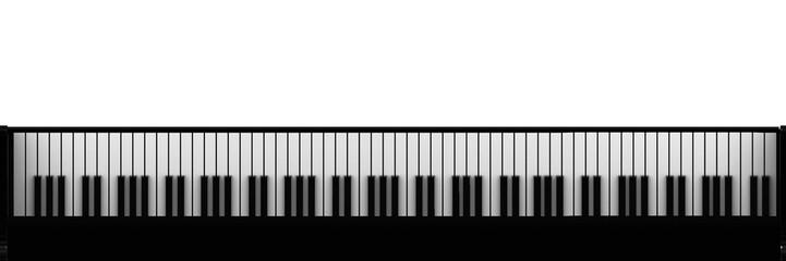 Piano keys (top view)