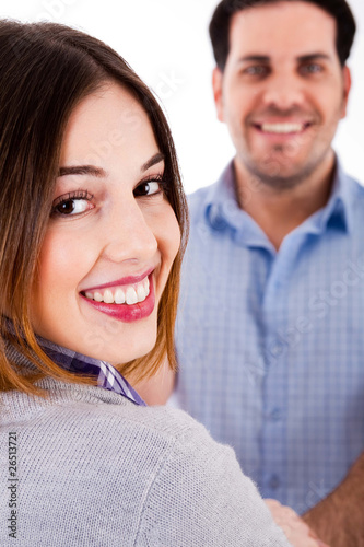 close up of a smiling couple
