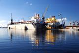ships in shipyard docks