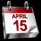 Tax Deadline Calendar poster