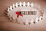 AIDS support cause poster
