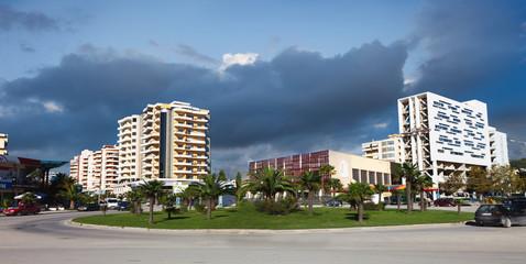 City center of Vlora, Albania