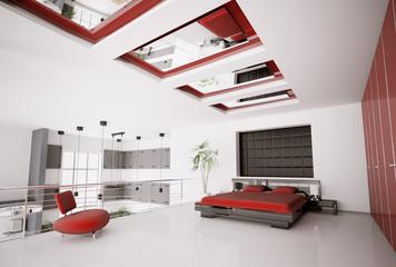 Schlafzimmer interior 3d