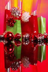 Christmas gift bags and balls