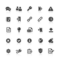 Black Web Icons -  Office & Internet